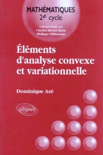 Eléments d'analyse convexe et variationnelle