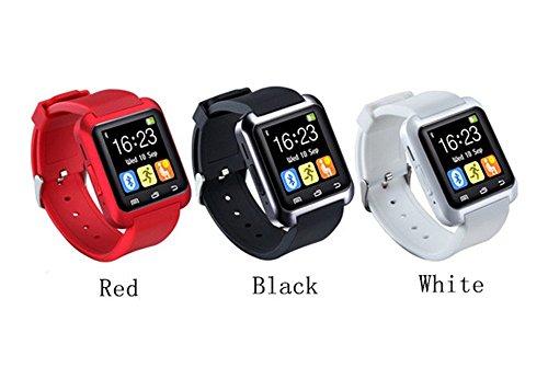 AB Emblems BAB® U80 Bluetooth Smartwatch Reloj para el iPhone 4/4S/5/5C/5S/6/6 Además, Samsung S3/S4/S5/S6/Nota 2/Nota 3/Nota 4, HTC y Sony Android Smartphones y así sucesivamente (blanco)