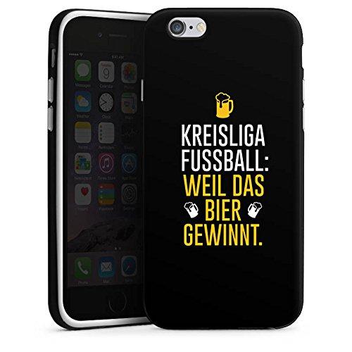 Apple iPhone X Silikon Hülle Case Schutzhülle Fußball Kreisliga Bier Silikon Case schwarz / weiß
