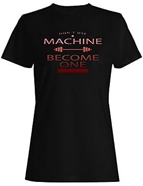 Se convierten los deportes positivos divertidos del gimnasio de la máquina inspiran camiseta de las mujeres d117f