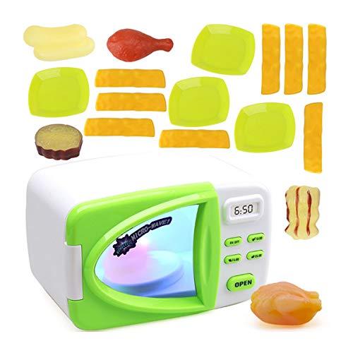 Toyvian 20PCS niños Juguetes de microondas para el Aprendizaje temprano de Las niñas en Edad Preescolar educativos Juguetes de Cocina