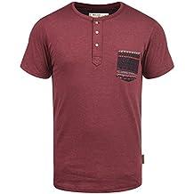 8f0b989b1e9492 Indicode Art Herren T-Shirt Kurzarm Shirt Mit Grandad-Ausschnitt