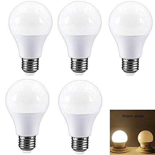 E27 LED Glühbirne warmweiß Lampe Ersetzt 40W Leuchtmittel   5 Watt   400 Lumen für Wandlampen, Tischlampen, Deckenlampen, Küche, Schlafzimmer, Hängendes Licht, Ankleidezimmer (5-er Pack)