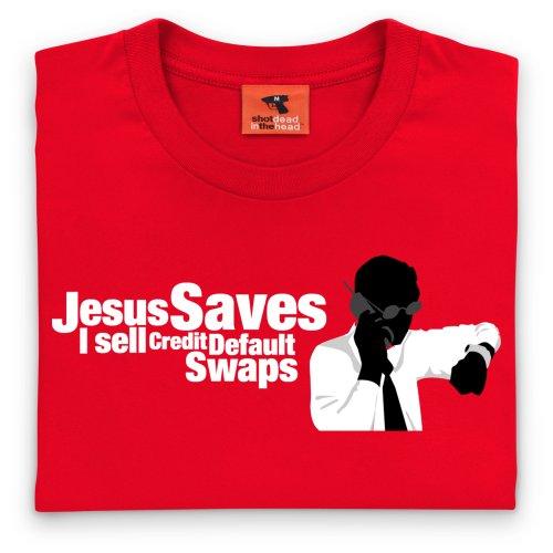 Square Mile Credit Default Swaps T-Shirt, Herren Rot