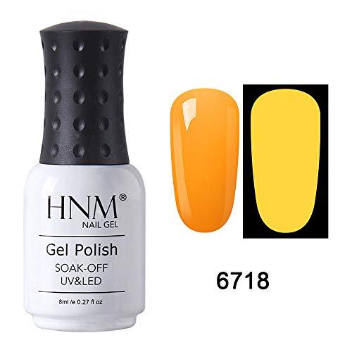 HNM Lumineux Nuit UV Couelur Vernis Semi Permanent Vernisà Ongles Gel Nail Arts Manucure Couleur 7ML YG-6718