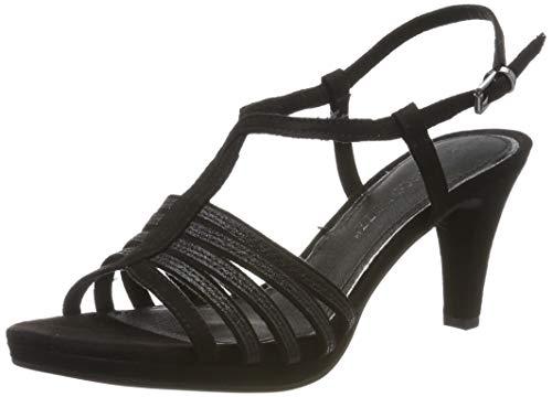 MARCO TOZZI 2-2-28303-22, Sandali con Cinturino alla Caviglia Donna, Nero (Black Comb 098), 40 EU