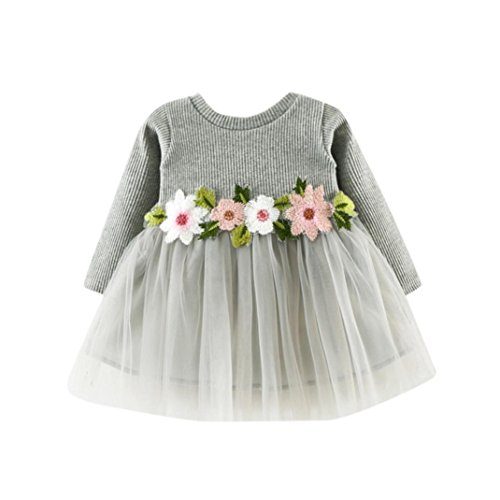 Amlaiworld Cute Toddler Baby Girl Floral Tutu Long Sleeve Princess Dress 416EhSvX7UL