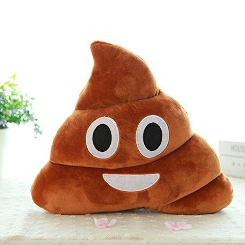 STRIR Emoji Emoticono Cojín Almohada Redonda Emoticon Peluche Bordado Sonriente 14*10*4.5cm/5.5*4*1.8  /(L*H*W)