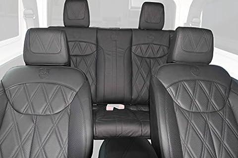 Hofele-Design Luxury Leder-Sitzausstattung für Jeep Wrangler JK | 4-Sitzer | Echt-Leder | zum Überziehen der originalen Sitzgestelle