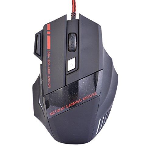 WM 7programmierbare Tasten optische Maus mit USB Kabel buntes Set LED 1200/1800/2400dpi Mäuse Computer für LOL CF WH109
