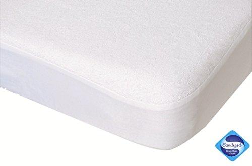 PMP colchón protector de la cubierta Formulario impermeable y transpirable PU blanca 40X80 cm