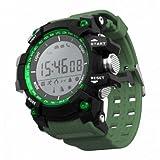 "LEOTEC Green Mountain 1.1"" LCD Negro, Verde Reloj Inteligente - Relojes Inteligentes (2,79 cm (1.1""), LCD, 870 h, 80 g, Negro, Verde)"