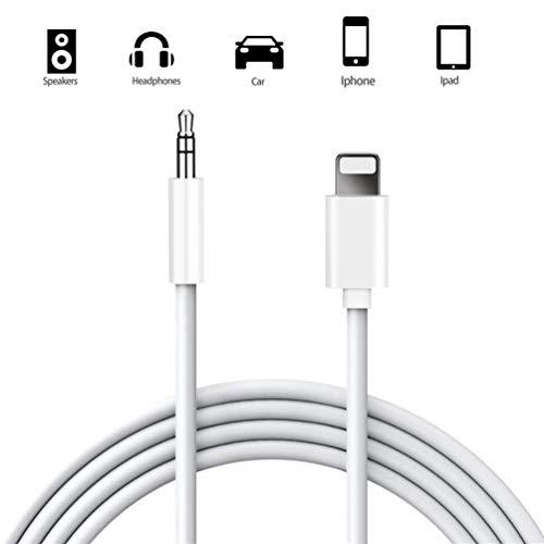 Auto AUX Kabel Phone Ladekabel Phone Kabel CE Zertifiziert Kompatibel mit XS/X/ 8/8 Plus/ 7/7 Plus/ 6 Plus/ 6S/ 6/ 5S/ 5C/ SE/ 5, Mini/Air Audio Jack Kabel Bluetooth Sprecher Kopfhörerkabel (Auto-aux-kabel)