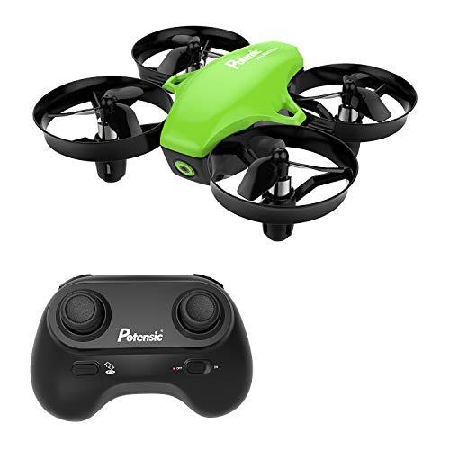 Potensic A20 Mini Drone avec Les Fonction sans tête, Altitude Tenir, Deux Boutons pour contrôler décoller et atterrisser, Drone Cadeau(Feuillage)