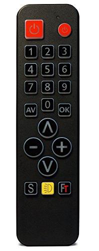 FeinTech SDF00400 FeinControl Universal-Fernbedienung mit Tasten-Beleuchtung schwarz