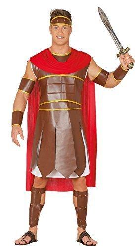 Fancy Me Herren Römische Kriegerin Antike historisch grichischer Gladiator Kostüm Kleid Outfit groß - Medium