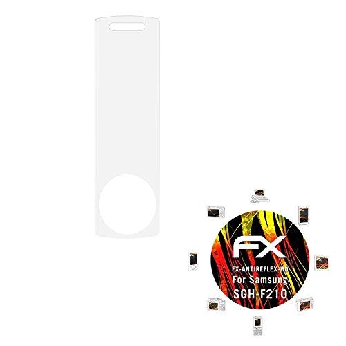 Samsung SGH-F210 Displayschutzfolie - 3 x atFoliX FX-Antireflex-HD hochauflösende entspiegelnde Folie