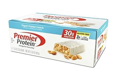 Premier Protein Nutrition Bar, Yogurt Peanut Crunch, 30g Protein by Premier Protein