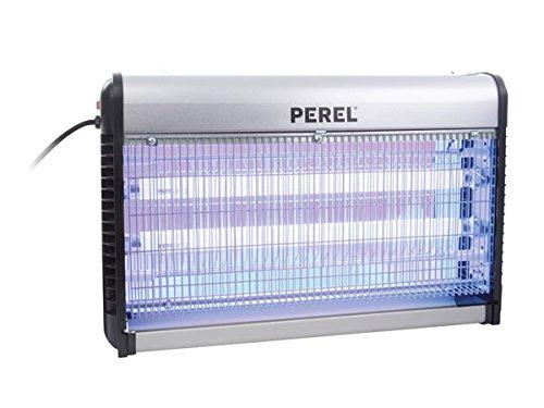 Perel GIK09N Automático Matainsectos Apto para uso en interior Negro, Plata insecticida y repele-insectos - Anti-insectos (Automático, Matainsectos, Negro, Plata, 100 m², UV-A, Aluminio)