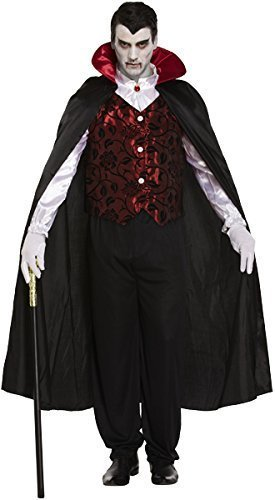 deluxe mens vampire dracula halloween horror fancy dress costume outfit amazoncouk toys games - Halloween Dracula Costumes