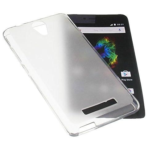 Étui pour Archos 50 Platinum 4G Housse pour smartphone en Caoutchouc TPU blanc transparent