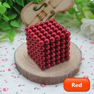 Cubo magico composto da sfere magnetiche in ferro, 216 pezzi, diametro: 5...