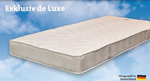 Gerz Komfort-Hotelmatratze Exklusiv de Luxe - 5-Zonen-Komfort - Sommerseite und Winterseite - strapazierfähiger Drell - Hergestellt in Deutschland - 90x200 cm