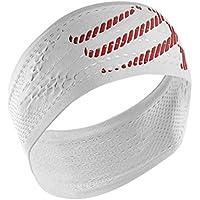 Compressport Headband On/Off Cinta, Unisex, Blanco, Talla Única