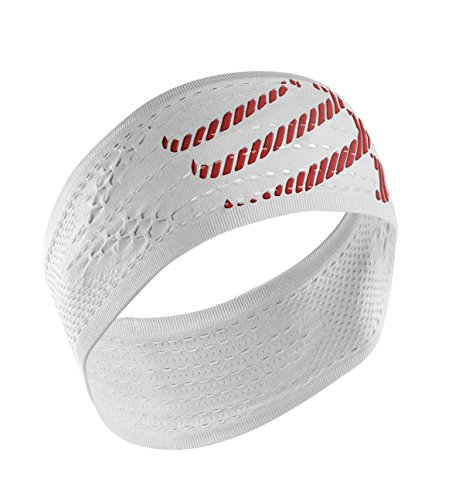 Compressport Headband On/Off - Cinta de cabeza unisex, color blanco, talla única