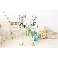 Copa de champán para boda - personalizadas con la frase elegida
