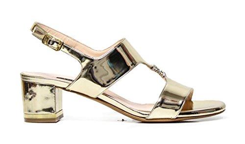 Sandalo Elegante Albano 4336 platino specchio