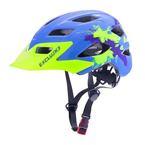 Exclusky Casco Bicicleta Niños Casco Infantil para BMX, Patinaje, Ciclismo, Monopatín, Scooter...