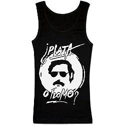 Pablo Escobar PLATA O PLOMO? camiseta sin mangas para mujeres Small