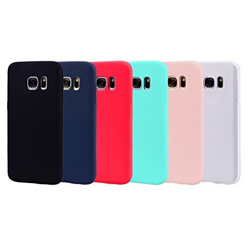 b2d0cc18a19 Leton 6X Funda para Samsung Galaxy S7 Silicona Ultrafina Case Suave  Flexible TPU Carcasa Galaxy S7