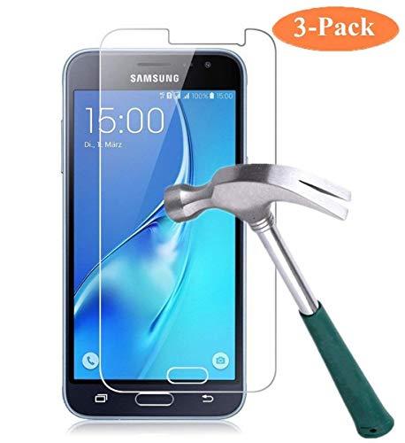 Cardana | 3X bruchsicheres Schutzglas für Samsung Galaxy J3 2017 / J3 2017 Duos| Schutzfolie aus 9H Echt Glas | angenehme Handhabung | Schutzglas zum Schutz vor Bildschirmschäden |