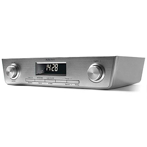 Fm Nur (AudioAffairs Küchenradio UKW FM Unterbau-Radio Küchenunterbauradio mit LED Licht, Unterschrank-Küchenradio und Back-Timer, Brushed Metal - Nur erhältlich auf Amazon.de)
