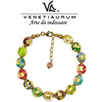 Venetiaurum - Woman bracelet with pearls in original Murano glass and 925 silver - Certified Made in Italy jewel
