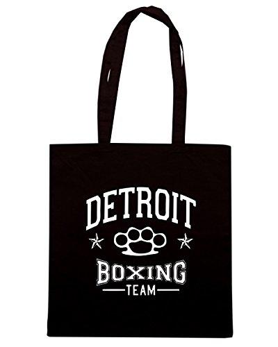 T-Shirtshock - Borsa Shopping TBOXE0079 detroit boxing team Nero