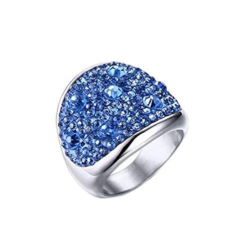 PAMTIER Damen Edelstahl Charmant Diamant Versprechen Ring Cocktail -