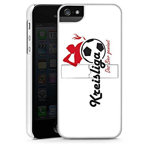 Apple iPhone X Silikon Hülle Case Schutzhülle Kreisliga Fußball Bier Premium Case StandUp