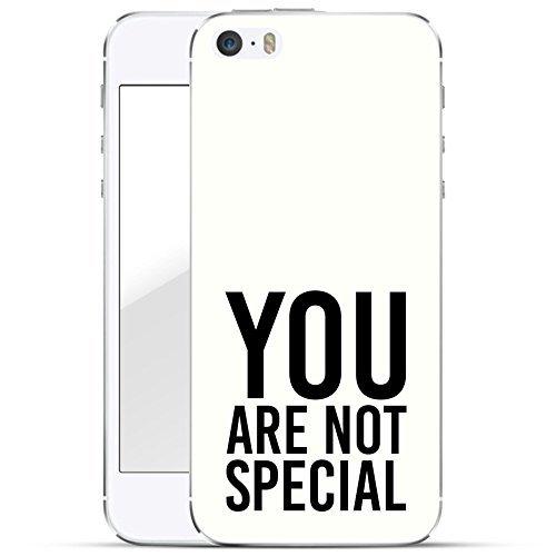 Motif Serie 2 Coque Pour Iphone - Bleu Marine Bois, Iphone 6 Plus / 6S plus You are pas spécial blanc