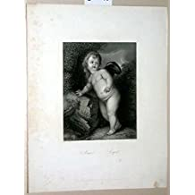 Amor. Cupid. (Stahlstich von Payne nach van Dyck. Bildmaß ca 11,5 x 15 - Blattmaß ca. 22 x 28 cm)