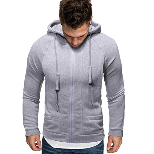 Mens Casual Slim Fit Pullover Sweatshirts Knitted T-Shirts Thermal Napping Inside of Various Styles ◆Elecenty◆ Hoodies Long Sleeve Hooded Sweatshirt Tops -
