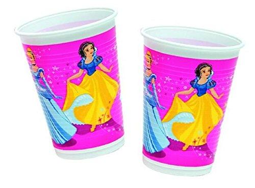 8 Becher * MAGIC PRINCESS * für Party und Geburtstag // Geburtstag Party Fete Set Disney Prinzessin Anna Mädchen Mottoparty Napkins Pink Rosa