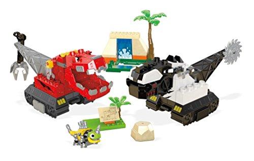 Mattel Mega Bloks DXW47 - Construx Dinotrux Krater-Kampf, Baukästen