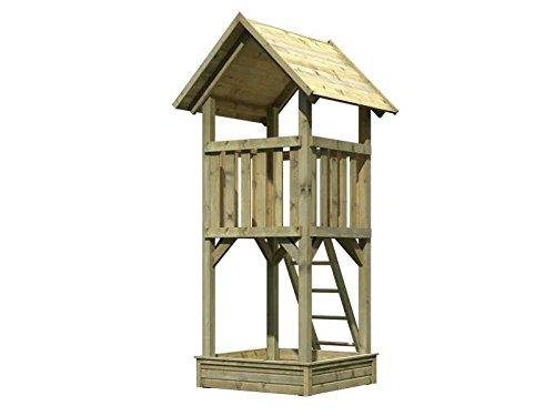 Karibu Spielturm Greta mit Sandkasten kdi