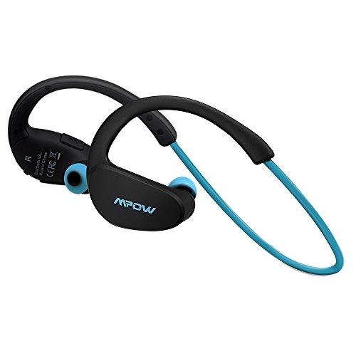 Mpow Cheetah Bluetooth Kopfhörer, Wasserdicht Sport Kopfhörer Kabellos, 8 Stunden Spielzeit/AptX Stereo-Sound/Mikrofon, SportKopfhörer Joggen/Laufen/Fitness für iPhone Samsung Android usw, Blau