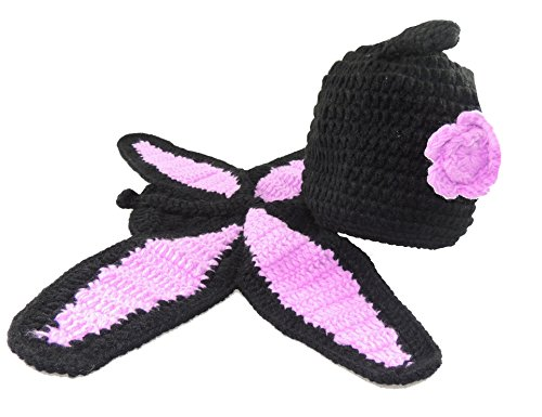 ädchen Jungen Baby Schmetterling, Foto-Requisite, Schwarz/Pink (Cat Dress Up Ideen)