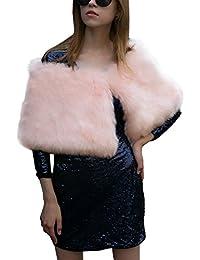 iBaste Chal Pelo Sintetico Corto Mujer Caliente Gruesa Invierno de la Boda Accesorios  para Boda  ec1ad1bbf73b