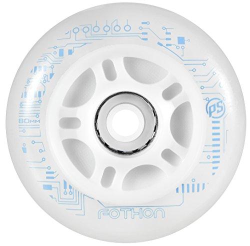 Powerslide Rollen Nightwheels Fothon 4-Pack - Pieza para Patines en línea, Color Transparente, Talla 90mm